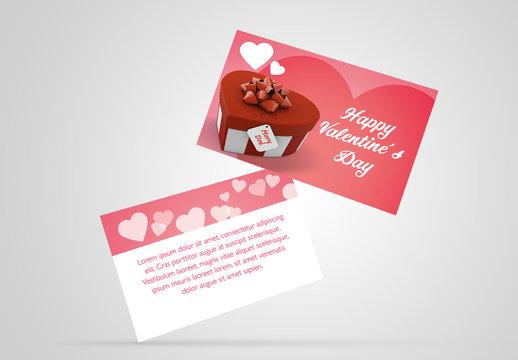 Valentine's Day Gift Card Layout