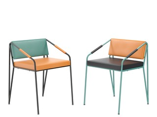 Two modern designer's chairs