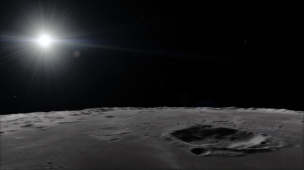 Moon in outer space, surface. High quality, resolution, 4k. This image elements furnished by nasa
