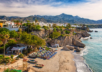 Nice beach in Nerja, Spain