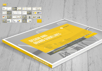 Brand Manual Layout with Yellow Accents