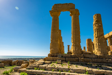 Ancient greek Temple of Juno, Agrigento, Sicily