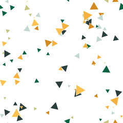 Abstract seamless pattern with colorful chaotic small triangles. Infinity triangular messy geometric pattern. Vector illustration.