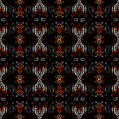 Vector ethnic tribal pattern. Seamless art image.
