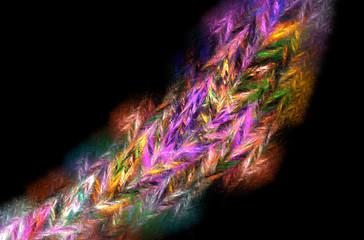 Yellow blue pink fractal background. Fantasy fractal texture. Digital art. 3D rendering. Computer generated image.