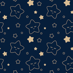 starry sky seamless children's pattern