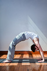 Young Woman Doing a Back Bend