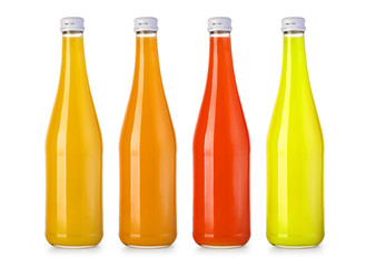 bottle with tasty  drink