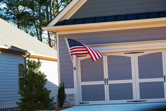 Flag on Garage