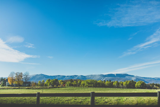 Vermont Mountain Scenery in Autumn - Summer