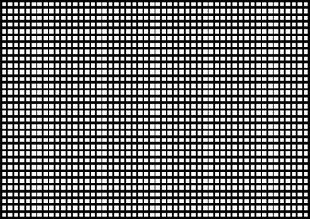 Geometric abstraction, white squares on a black surface