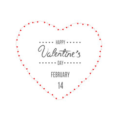 Happy Saint Valentine's day card on white background