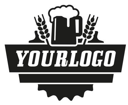 schwarzweiße Vektor-Grafik Bier für Logo Junggesellenabschied