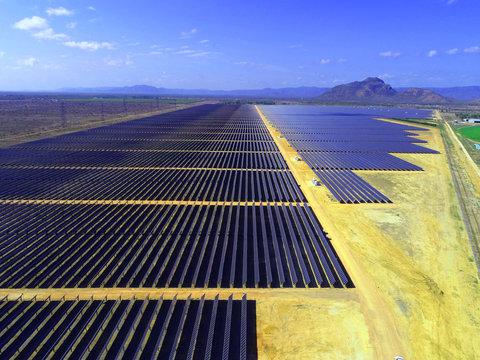Solar Farm Photovoltaic Panels