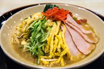 Hiyashi chuka, Chinese style cold ramen at restaurant, Tokyo