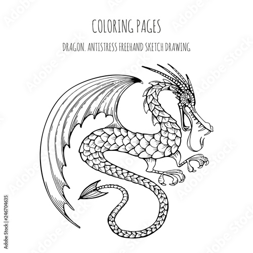 Coloring pages. Coloring book for adults with a fabulous ...