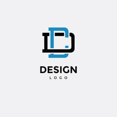 Vector logo design, icon initials c d