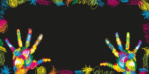 Obraz Kolorowe dłonie - fototapety do salonu