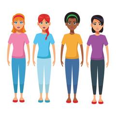 young women body cartoon