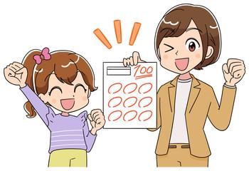 小学生 子ども 女の子 テスト(アニメ・ゲーム風テイスト)