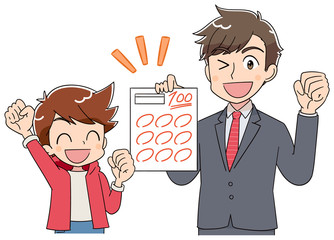 小学生 子ども 男の子 テスト(アニメ・ゲーム風テイスト)