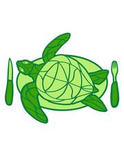 essen hunger lecker teller besteck koch chef grillen küche restaurant comic cartoon wasserschildkröte schildkröte wasser turtle schwimmen meer flossen clipart design schön panzer tattoo logo