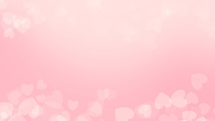 Pink color background on valentine day