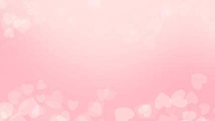 Pink color background on valentine day
