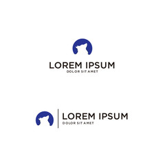logo for a company with wolf elements