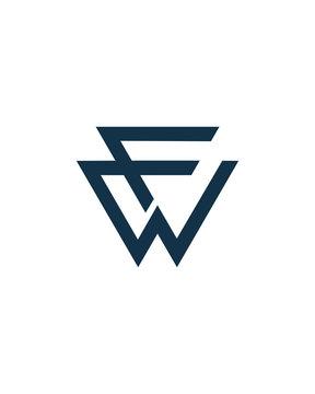 FW Letter Logo Template