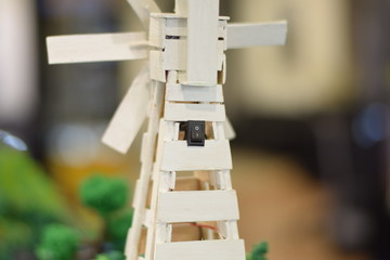 Switch on-off for architecture model of wind turbine