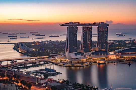 singapore landscape during blue hour no visible logo