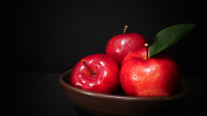 Three apple on bowl for fruit image