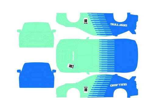 WRX Drift car graphic (FALKEN STYLE)