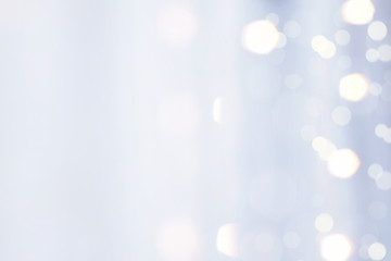 Blue Fabric with Bokeh Light Reflex Blur Background