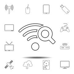Wi-Fi Search icon. Simple thin line, outline vector element of Technology icons set for UI and UX, website or mobile application