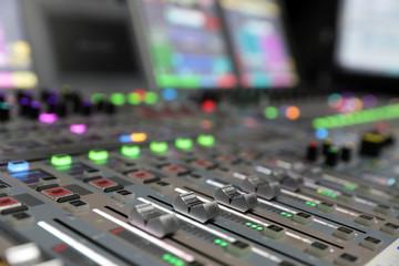 Modern Digital broadcast audio mixing console