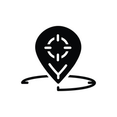 Black solid icon for Geo