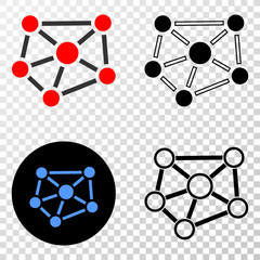 Relations EPS vector pictogram with contour, black and colored versions. Illustration style is flat iconic symbol on chess transparent background.