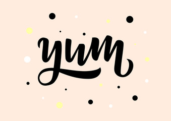 Yum hand drawn lettering