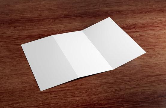 Trifold Brochure Mock up - 3d rendering