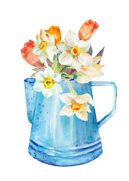 kettle and flowers