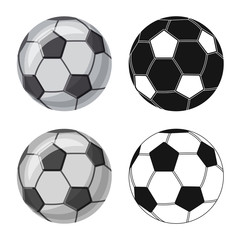 Isolated object of sport and ball sign. Collection of sport and athletic vector icon for stock.