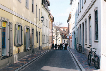 Bamberg, Germany - 04 01 2013: views of the streets of Bamberg in sunny weather