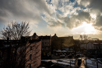 Fototapeta Mysłowice- Smog- zanieczyszczenie powietrza obraz