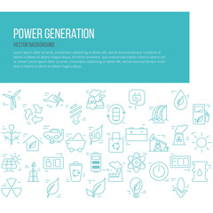 Green energy concept vector symbols of  energy with place for your text.