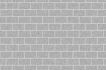 Gray brick wall abstract background. Texture of bricks. Vector illustration