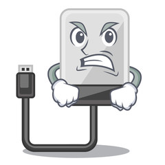 Angry hard drive isolated on the characters