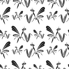 mantis vector seamless pattern