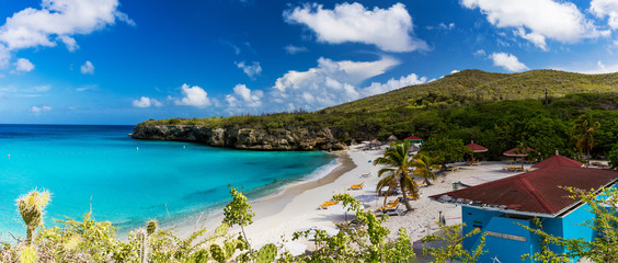 The pristine Grote Knip beach on the tropical Island of Curacao Wall mural